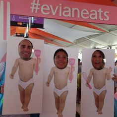 Photo activation from #evianeats at Grand Tasting #sobewff #miami
