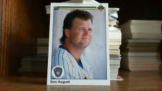 UPPER DECK 1990 DON AUGUST CARD# 295 BREWERS. #MilwaukeeBrewers