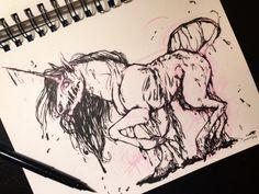 Gweakles ~ Horror Unicorn (Inktober) One of my favorite gweakles drawing!