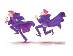 And grabbed- THIS.  by *viria13  Fred: George caused a diversion by dropping another Dungbomb, I whipped the drawer open, and grabbed—this.    hehe I do really enjoy drawing them running  You know, that time when Fred and George were on their first year.. Carefree and innocent..