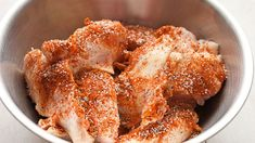 Dry-rubbed chicken wings wrapped in bacon. Chicken wings don't get any better than this. Dry Rub Chicken Wings, Chicken Wraps, Chicken Wing Recipes, Bleu Cheese Dressing, Easy Oven Baked Chicken, Bacon Wrapped Chicken, Stuffed Peppers, Baking, February