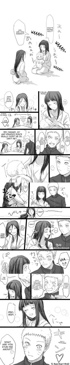 Naruhina - Hinata Feeding Baby Bolt by bluedragonfan.dev... on @DeviantArt