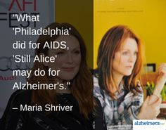 It is the hope that the movie Still Alice will help raise awareness for Alzheimer's on a global scale. Read more inspirational posts.