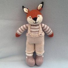 Hand knitted fox Childs gift baby shower giftbaby gift