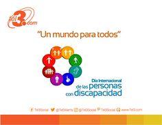 Debemos romper barreras y abrir puertas, para alcanzar una sociedad inclusiva para todos #Tel3 se suma a la celebración del #DiaInternacionalDiscapacidad www.tel3.com La imagen puede contener: texto