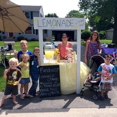 Lemonade stand made from our old baby changing table.
