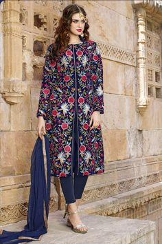 #HAPPY #RAKSHABANDAN Buy This Navy Blue Viscos Satin Traditional Straigh Cut Salwar Kameez with Embroidery Work. Buy Now:- http://www.lalgulal.com/…/navy-blue-viscos-satin-traditiona… #CashOnDelivery & #FreeShipping only in India. For Other Query Just Whatsapp Us on +91-9512150402 Or Mail Us at info@lalgulal.com.