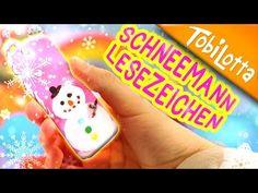 Schneemann Lesezeichen basteln | Adventskalender basteln 8 | Kinderkanal |Kinder DIY - Tobilot - YouTube