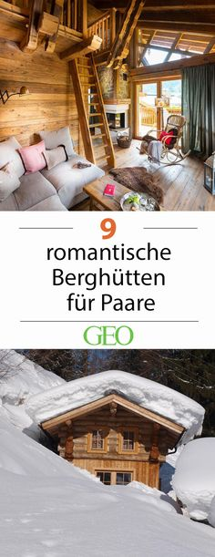 Romantische Berghütten für Paare Short break for two: Romantic mountain huts for couples. How could the dark season spend better than snowed in pairs? Far away from the towns, mountain huts and chalet Romantic Vacations, Romantic Getaway, Romantic Travel, Cool Places To Visit, Places To Go, Refuge, Countries To Visit, Holiday Accommodation, Short Break
