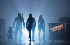 Guardians Of The Galaxy Vol. 2 Start of Production Image L to R: Rocket (voiced by Bradley Cooper), Drax (Dave Bautista), Groot (voiced by Vin Diesel), Peter Quill/Star-Lord (Chris Pratt) and Gamora (Zoe Saldana) ©Marvel 2017 Guardians 2, Guardians Of The Galaxy Vol 2, Chris Pratt, Sylvester Stallone, Star Lord, Entertainment Weekly, Dc Movies, Marvel Movies, Superhero Movies