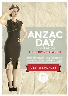 Create an event flyer or poster for Anzac Day or Australia Day without the need for a graphic designer. Check out the huge range of professionally pre-designed posters, flyers and social media graphics that you can update yourself, in minutes. Anzac Day, Australia Day, Social Media Graphics, Lineup, Templates, Poster, Fashion, Australia Day Date, Moda