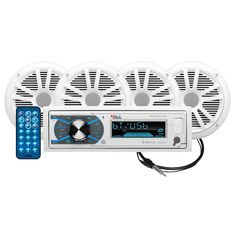 """Boss Audio MCK632WB.64 Package w-MR632UAB AM-FM CD Receiver; 2 Pair of 6.5"""" MR6W Speakers MRANT10 Antenna [MCK632WB.64]"""