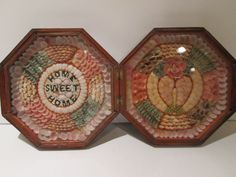Antique Sailors Valentine Double Sided Shells St Lucia