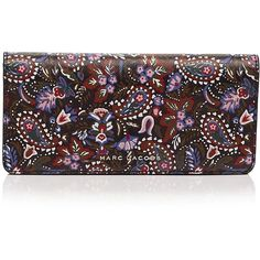 Marc Jacobs Open Face Garden Paisley Print Saffiano Leather Wallet (255 NZD) ❤ liked on Polyvore featuring bags, wallets, paisley wallet, saffiano leather bag, marc jacobs, paisley bag and marc jacobs bags