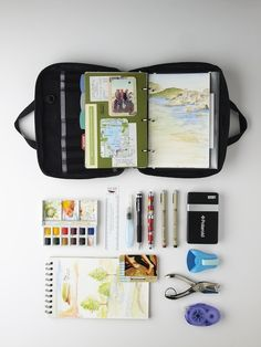 journaling- awesome for travel- keep everything you have in a little kit.