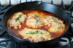 Here's an easy weeknight chicken parmesan recipe that can be made and on your table in under 30 minutes, and the added bonus is that it can all be done in your cast iron skillet, making clean up a cinch! It's also flour-less and egg-less and gluten-free to boot!  My foodie friend Amanda kept telling …