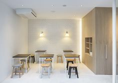 Beauty Library in Tokyo by Nendo | #cosmetics #interior #japanese #white