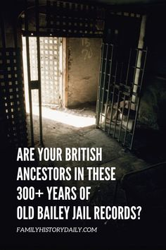 If you have ancestors who lived in England in the last three and a half centuries you do not want to miss the vast (and free) collections of The Old Bailey Online and its sister site the Digital Panopticon. Jail Records, Free Genealogy Sites, Build A Story, Find Your Ancestors, Living In England, Criminal Record, Simple Website, National Archives, Historical Pictures