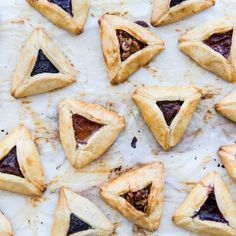 Hamantaschen for Purim. These tender, buttery bites are not the hamantaschen of our collective youth. They're a joy to eat the whole way through, whether or not you encountered filling in each bite. Jam Recipes, Holiday Recipes, Dessert Recipes, Holiday Foods, Jelly Recipes, Recipes Dinner, Holiday Ideas, Recipies, Cookie Cutter Recipes