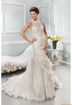 Maßgeschneiderte Brautkleider Meerjungfrau tüll 7634 2014