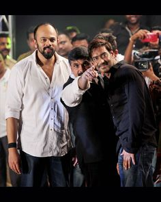 The blockbuster duo Ajay Devgn- Rohit Shetty who are back with a bang with their just released action flick Singham Returns was also seen at the do.