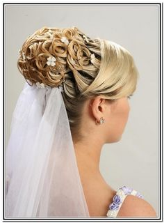 wedding-hair-updos-with-veil.jpg (684×930)