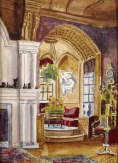 Window Bay in the Library at Lyme Park, by Sybil Legh