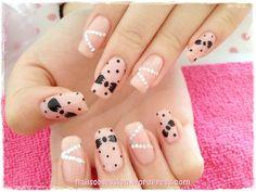 Valentinstag Nageldesign – Oh, les rues de France! Great Nails, Love Nails, How To Do Nails, My Nails, Tape Nail Designs, Bow Nail Art, Minnie Mouse Nails, Polka Dot Nails, Polka Dots