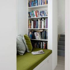 shelf in reading nook