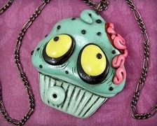 Zombie Cupcake Necklace II by beatblack on Etsy