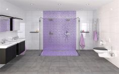 Snygg lila mosaik från Bricmate