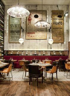 Industrial dining space. Do you know where this photo is taken?!
