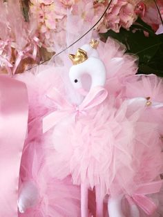 our pink tulle flamingo christening bonboniera!!! www.cottonprince.gr