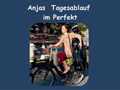A1 Perfekt Anjas Tagesablauf - zu Lektion 11 und 12 von Menschen A1 Fails, Baseball Cards, Education, Memes, Learning Methods, Sequence Of Events, Studying, People, Meme