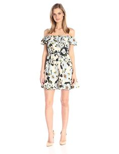 JOA Women's Floral Print Strapless Dress -- Click image for more details. (This is an affiliate link and I receive a commission for the sales)
