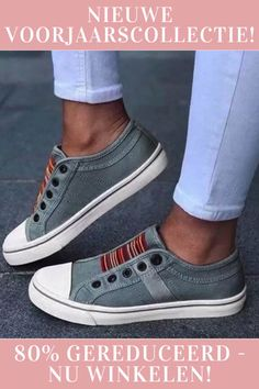 Women Large Size Canvas Elastic Wearable Casual Flats is cheap and comfortable. There are other cheap women flats and loafers online. Neue Outfits, Loafers Online, Comfortable Sneakers, Casual Sneakers, Casual Shoes, Shirt Bluse, Shoe Size Conversion, Sporty Look, Top Shoes