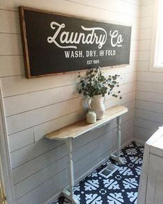 My heart is so happy today Look at this Magnolia inspired sign that a local friend made for me It is 5 feet long and was meant for this space My he… – Mudroom Laundry Room Remodel, Laundry Room Signs, Laundry Rooms, Laundry Baskets, Interior Design Living Room, Living Room Designs, Living Room Decor, Farmhouse Laundry Room, Farmhouse Decor