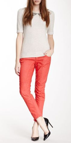 I really like the boldness of these skinny jeans.