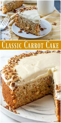 easy dessert recipe made with simple homemade strawberry sauce and smooth creamy baked cheesecake. One Layer Carrot Cake Recipe, Classic Carrot Cake Recipe, Easy No Bake Desserts, No Bake Treats, Dessert Recipes, Pasta Recipes, Dinner Recipes, Cooking Recipes, Sweets