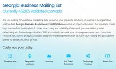 Are you looking for qualitative marketing data to market your products, solutions or services in Georgia? Blue Mail Media's georgia business email list can be an important enabler. You can send an enquiry at sales@bluemailmedia.com and Contact us now at 1-888-494-0588. You can also visit the site: https://www.bluemailmedia.com/united-states/georgia-mailing-list.php