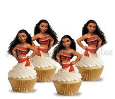 Moana cupcake Toppers Moana cake toppers by HappywithPrintables Moana Birthday Party Theme, Moana Theme, Girl Birthday, Birthday Parties, Birthday Cupcakes, Festa Party, Luau Party, Moana Cupcake Toppers, Moana Party Decorations