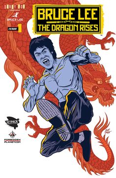 Bruce Lee: The Dragon Rises Jetpack Comics variant cover Bruce Lee Abs, Brice Lee, Bruce Lee Collection, Caricature, Lee Movie, Tony Jaa, Dragon Rise, Legendary Dragons, Bruce Lee Photos