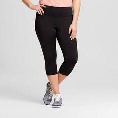 Champion Women's Plus-Size Embrace Capri Leggings Black