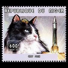 Felix the space cat stamp.