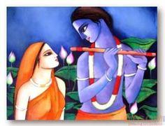 Buy paintings - Radha Krishna (I) , Figurative Paintings in Atgom Arts