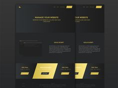 GOLD SCRIPT Website Design  by Ahmed Esmili