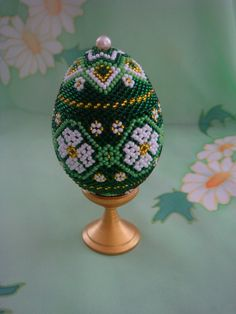 """Scheme egg """"Daisies""""   biser.info - all about beads and beaded work"""