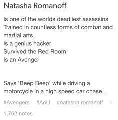 For the record, I have absolutely no issue with her characterization in AoU. #ReadAComicBookGuys