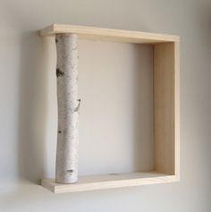 White Birch Forest organic wall art/box shelf by urbanplusforest