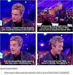 Woah, woah, woah. ...Doctor Who? REALLY?!?! IF THEY'RE ARGUING ABOUT WHO SHOULD PLAY THE DOCTOR, AT LEAST SOME OF THEM HAVE TO BE PROPER WHOVIANS!!! WHAT PROPER WHOVIAN SAYS DOCTOR WHO AS ANYTHING EXCEPT THE NAME OF THE SHOW?!?! HE IS THE DOCTOR, NOT DOCTOR WHO!! ....Breathe, honey, Breathe.... *deep breath* *pause* *screams into pillow*